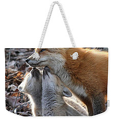 Red Fox Kits And Parent Weekender Tote Bag