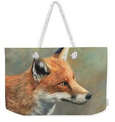 Red Fox Portrait Weekender Tote Bag