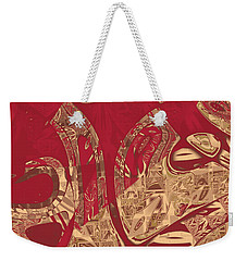 Red Geranium Abstract Weekender Tote Bag