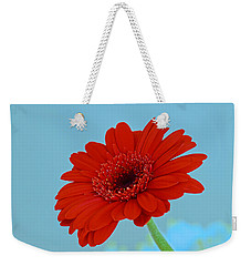 Red Gerbera Daisy Weekender Tote Bag by Scott Carruthers