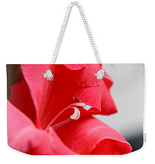 Lady In Red Weekender Tote Bag by Patti Whitten