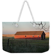Red Granary Barn Weekender Tote Bag