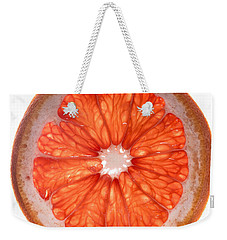 Red Grapefruit Weekender Tote Bag by Steve Gadomski