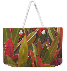 Red Green And Purple Weekender Tote Bag