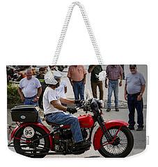 Red Harley 95 Weekender Tote Bag