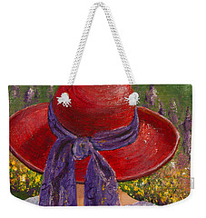 Red Hat Garden Weekender Tote Bag by Margaret Bobb