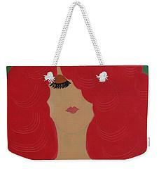 Red Head Weekender Tote Bag by Anita Lewis