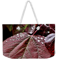 Red Heart Weekender Tote Bag by Peggy Hughes