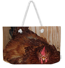 Red Hen Weekender Tote Bag by Pamela Walton