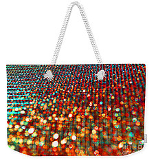 Red Hot Bokeh Bling Weekender Tote Bag by Debbie Portwood