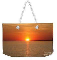 Weekender Tote Bag featuring the photograph Red-hot Sunset by John Telfer