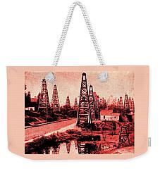 Red Indiana Oil Wells Circa 1900 Weekender Tote Bag by Peter Gumaer Ogden