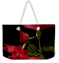 Weekender Tote Bag featuring the photograph Red Is For Passion by Lucinda Walter