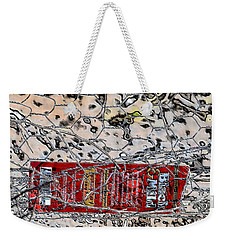 Weekender Tote Bag featuring the photograph Red Label by Nadalyn Larsen