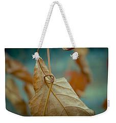 Red Leaf Close-up Weekender Tote Bag by Vlad Baciu