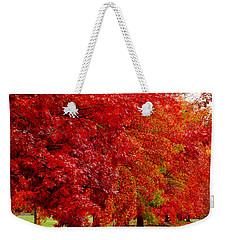 Red Leaf Road Weekender Tote Bag