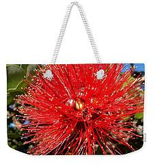 Red Lehua Weekender Tote Bag by Pamela Walton