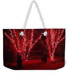 Red Lights And Bench Weekender Tote Bag