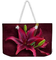 Red Lilies Weekender Tote Bag