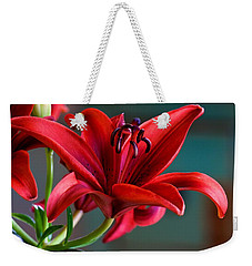 Red Lily Weekender Tote Bag