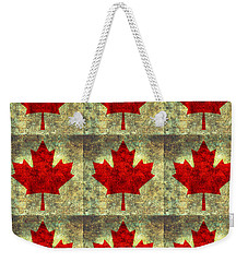 Red Maple Leaf Weekender Tote Bag