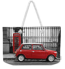 Red Mini Cooper In London Weekender Tote Bag