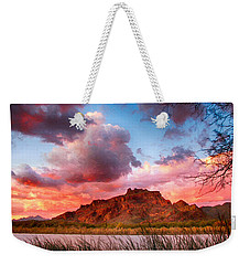 Red Mountain Sunset Weekender Tote Bag