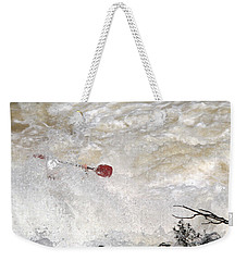 Weekender Tote Bag featuring the photograph Red Paddle by Carol Lynn Coronios