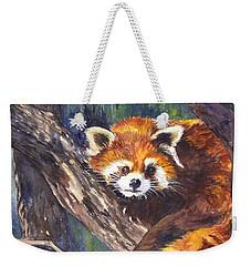 Red Panda Weekender Tote Bag by Carol Wisniewski
