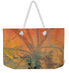 Red Peace Bird Weekender Tote Bag by Robin Maria Pedrero