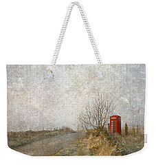 Red Phone Box Weekender Tote Bag by Liz  Alderdice
