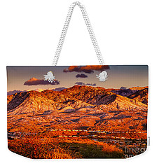 Weekender Tote Bag featuring the photograph Red Planet by Mark Myhaver