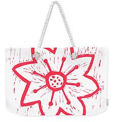 Red Poinsettia Weekender Tote Bag