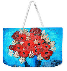 Red Poppies And White Daisies Weekender Tote Bag