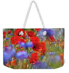 Red Poppies In The Maedow Weekender Tote Bag
