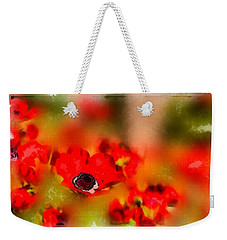 Red Poppies Inspiration Weekender Tote Bag
