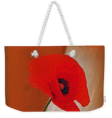 Red Poppy And Buds Weekender Tote Bag