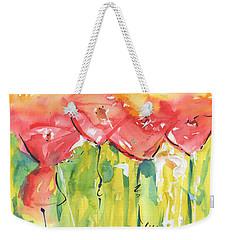 Red Poppy Party Weekender Tote Bag