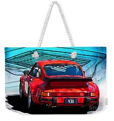 Red Porsche 930 Turbo Weekender Tote Bag