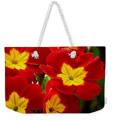 Red Primroses Weekender Tote Bag