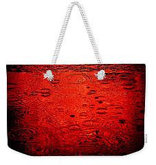 Red Rain Weekender Tote Bag by Dave Bowman
