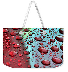 Red Rain Weekender Tote Bag