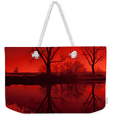 Red Reflections Weekender Tote Bag by Miguel Winterpacht