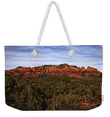 Weekender Tote Bag featuring the photograph Red Rock Golden Hour 26 by Mark Myhaver