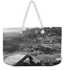 Weekender Tote Bag featuring the photograph Red Rock Winter by Alan Socolik