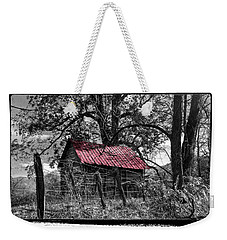 Red Roof Weekender Tote Bag by Debra and Dave Vanderlaan