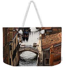 Red Roofs Of Venice Weekender Tote Bag by Georgia Mizuleva
