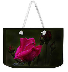 Red Rose Bud Weekender Tote Bag