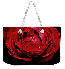 Weekender Tote Bag featuring the photograph Red Rose by Charlotte Schafer