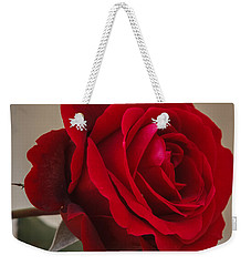 Red Rose Weekender Tote Bag by Jane Luxton